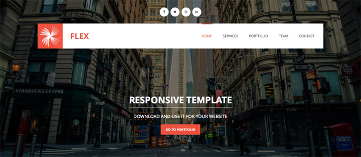 flex-onepage-html-template
