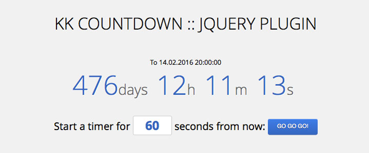 20+ Free jQuery Count Down Plugins For Landing Page