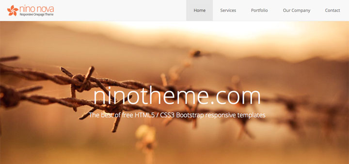 20 Free Responsive Html5 Css3 Onepage Templates