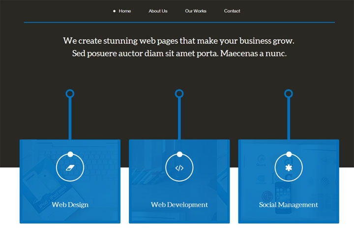 serve-onepage-html-template