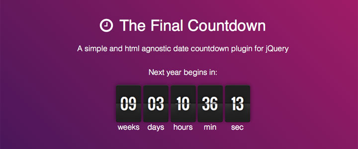 the-final-countdown-jquery-plugin