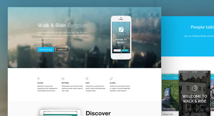 walk-ride-onepage-html-template