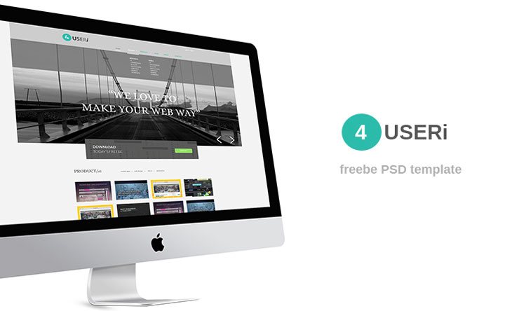 4useri-free-psd-template