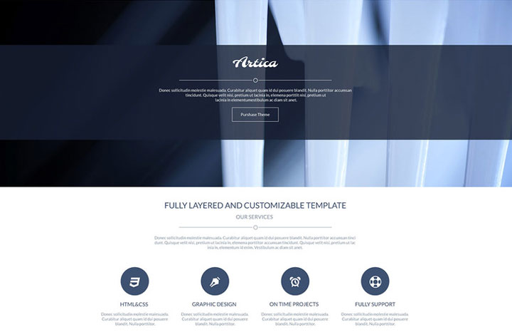 Artica-free-psd-template