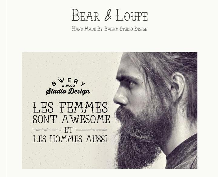 Bear-and-Loupe-free-font