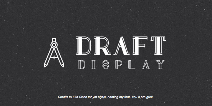 Draft-Display-free-font