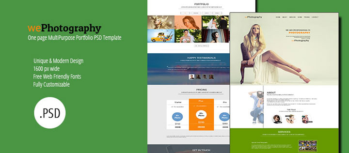 WePhotography-free-psd-template