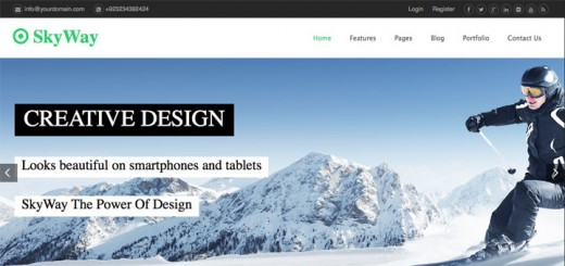 skyway-free-html5-template-cover