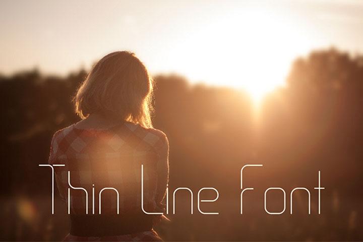 thin-line-free-font