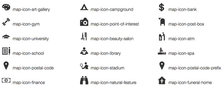 map-icons