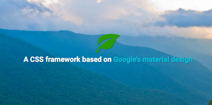 Leaf-CSS-framework-based-on-Google-material-design