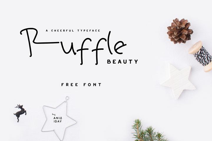 Ruffle-Beauty-Free-Font