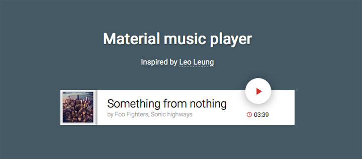Material-music-player