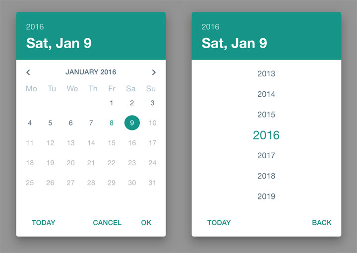 Material-Design-Date-Picker