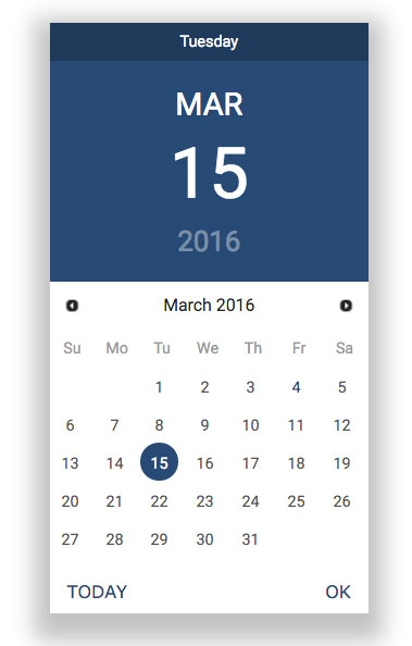 jQuery-ui-material-design-datepicker