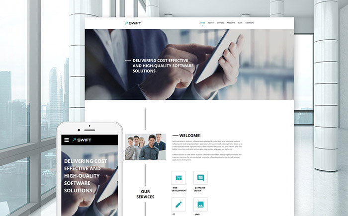 Business Responsive Website Template