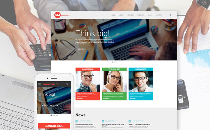 consulting firm web template