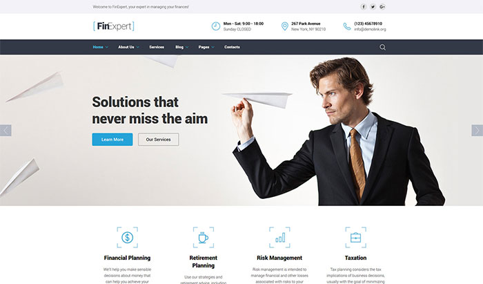 Business Financial Advisor Website Template