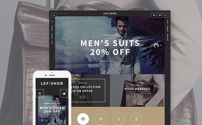 Lefishor - Men's Clothes & Accessories PrestaShop Theme