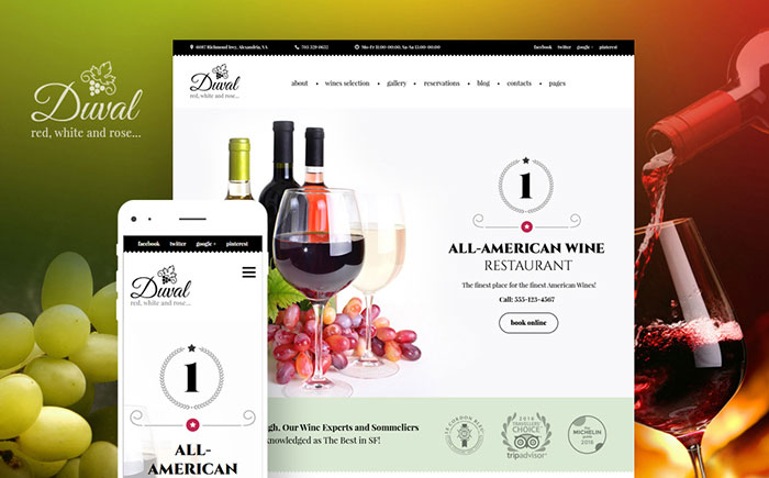Duval - Wine & Winery WordPress Theme