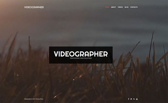 Videographer Portfolio WordPress Theme