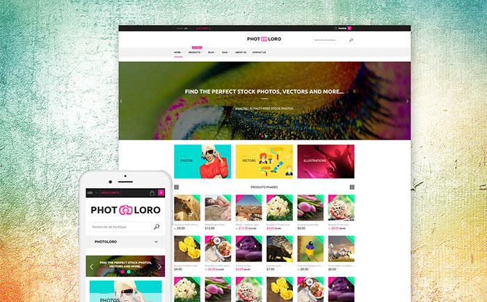 Stock Photo Shopify Theme