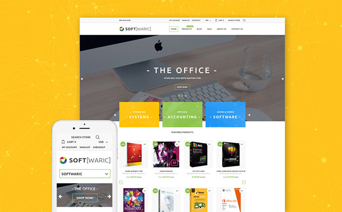 Software Store Online Shopify Template