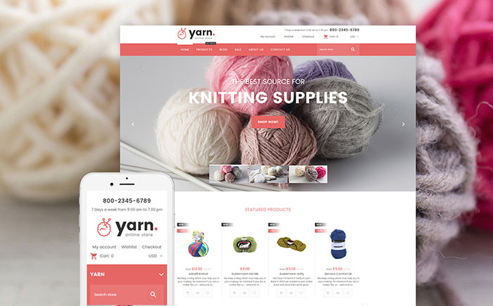 Knitting Shopify Theme