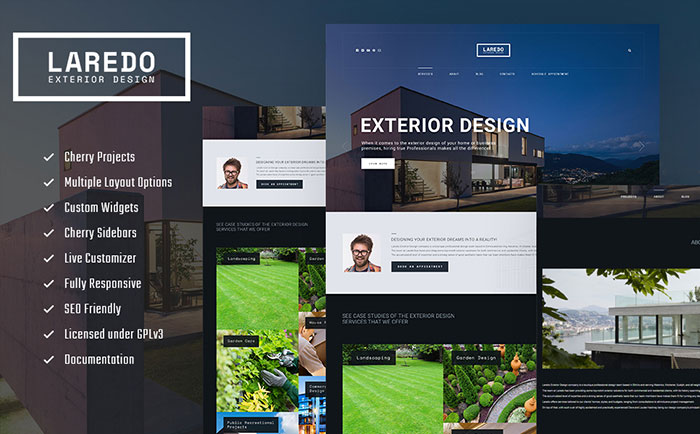 Exterior Design Company WordPress Theme