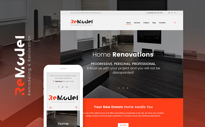 Remodeling WordPress Theme