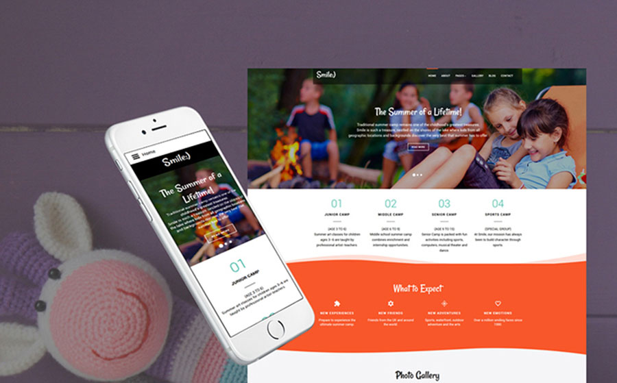 nal Summer Camp Joomla Template